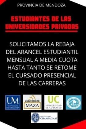 Mendoza: Estudiantes de universidades privadas reclaman la rebaja de cuotas durante la cuarentena
