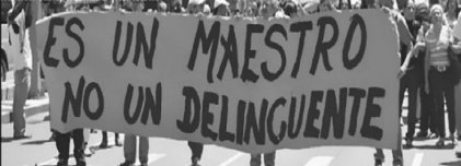 Ante la represión y la reforma educativa: unidad del magisterio y los estudiantes