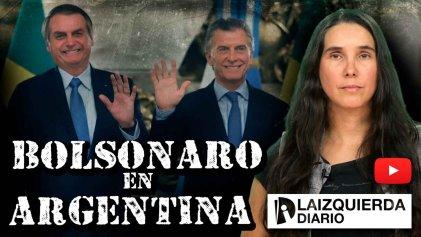 [Video] Bolsonaro: bienvenido por Macri, repudiado en las calles