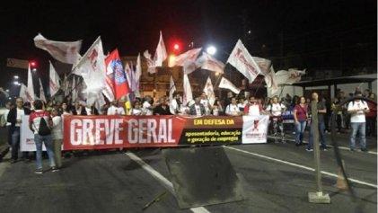 Jornada de huelga general en Brasil contra la reforma previsional de Bolsonaro