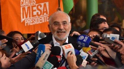 Bolivia: Carlos Mesa patea el tablero y rechaza la auditoria de la OEA