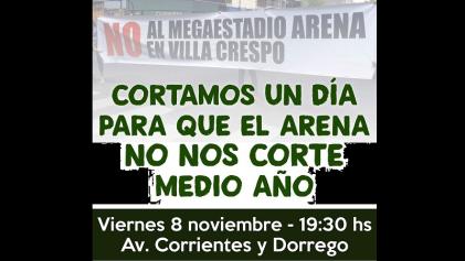 Vecinos de Villa Crespo contra el Megaestadio Arena