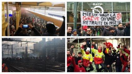 Sin tregua de Navidad: sigue la huelga del transporte en Francia