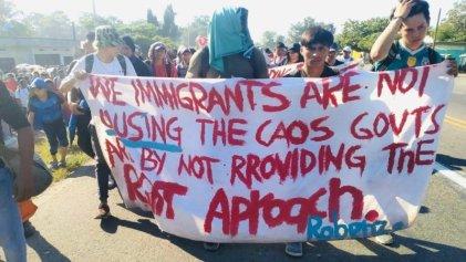 Caravana migrante cruza la frontera sur de México