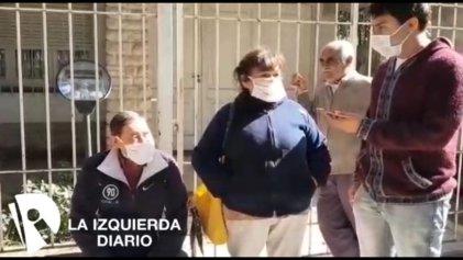 [Video] En San Miguel los jubilados hacen largas filas amontonados y bajo el frío para poder cobrar