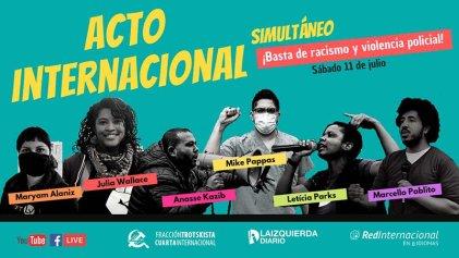 Contra el racismo y la violencia policial: sumate al acto internacional este sábado