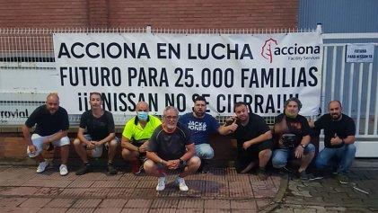 Sexto día de piquetes en la puerta de Nissan Barcelona