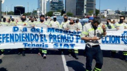 Trabajadores de Tenaris Siat se movilizan contra el recorte salarial