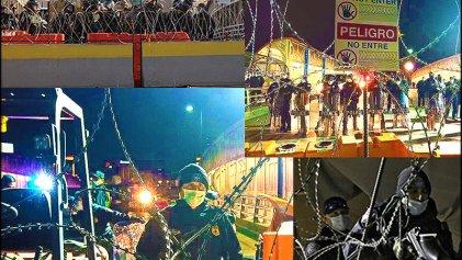 Migrantes toman puente Santa Fe en Ciudad Juárez