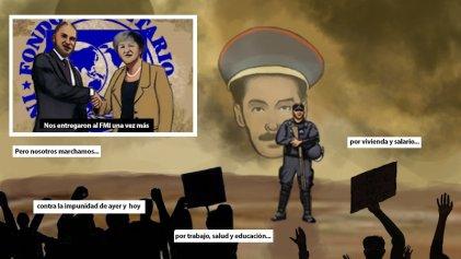 """Editorial gráfico:""""Marchamos el 24M contra la impunidad, el FMI, el ajuste y la represión"""""""