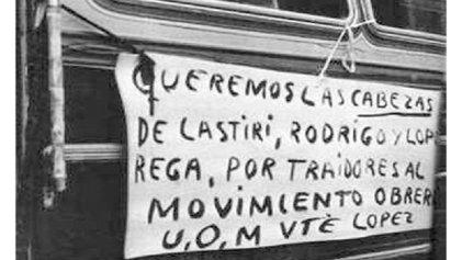 A cuarenta y cuatro años de la huelga general contra Isabel Perón y López Rega