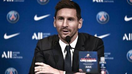 """Messi en su presentación en el PSG: """"Quiero seguir creciendo y ganando títulos"""""""