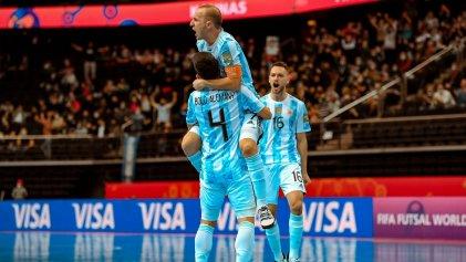 Mundial de Futsal: Argentina se impuso a Rusia por penales y va por Brasil en semifinales