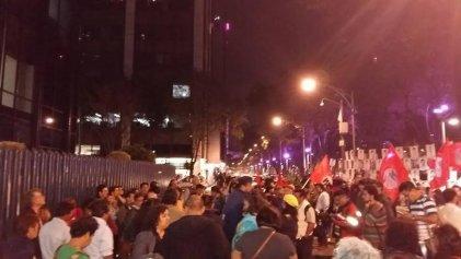 Nos movilizamos en repudio a la represión al magisterio de Oaxaca