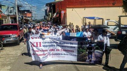 Caravana centroamericana de madres en busca de desaparecidos llega a México