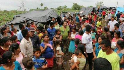Guatemaltecos desplazados exigen detener nuevos desalojos y represión
