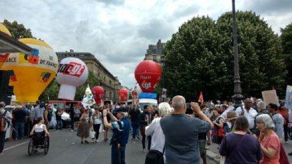 Trabajadores franceses se movilizaron contra la reforma laboral