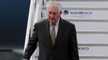 Tillerson llega a México para reunirse con Peña y Videgaray