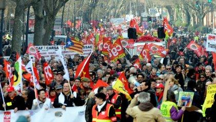 Nueva jornada de movilizaciones en toda Francia contra la reforma de Macron