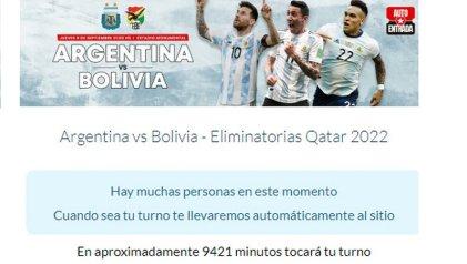 Poco popular: la odisea de sacar entradas para ver a la Selección Argentina