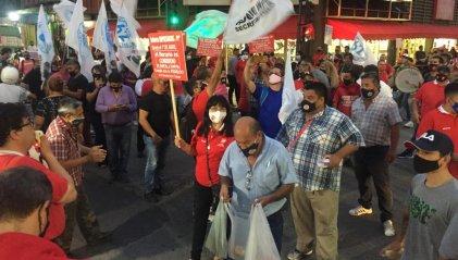 El sindicato y trabajadores autoconvocados del comercio se movilizaron por el horario corrido