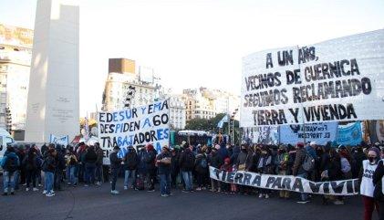 Obelisco: protesta del Plenario del Sindicalismo Combativo y sectores en lucha