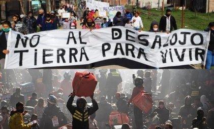 Repartidores paran y apoyan la lucha de Guernica, por trabajo y vivienda