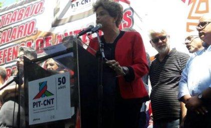 El paro general del PIT-CNT y la presencia de Dilma Rousseff