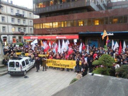 Concentraciones en Euskadi y Galicia en solidaridad con Catalunya
