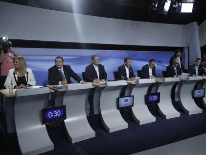 Tsipras defendió el memorándum de la Troika en el debate de candidatos