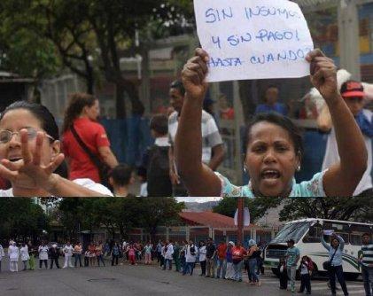 Un día después del 1º de Mayo continuaron las protestas de trabajadores en Caracas