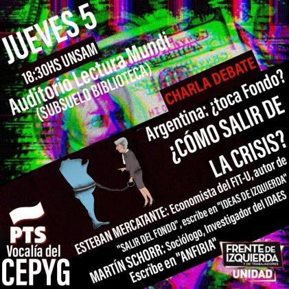 ¿Por qué no se frena la crisis? El debate económico en la Universidad Nacional de San Martín