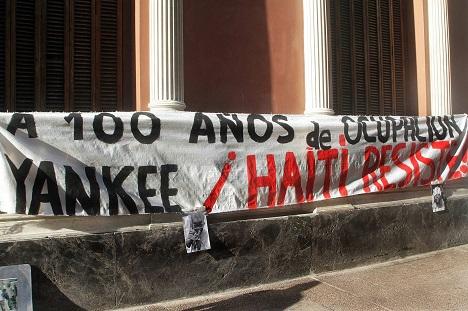Haití: marcha por el centenario de la ocupación militar estadounidense