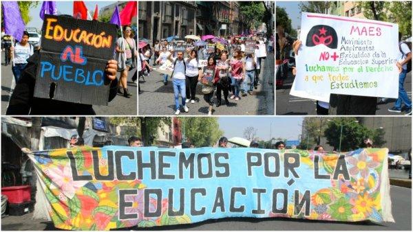 ¡Educación superior para todos!: marchan jóvenes contra exclusión de universidades públicas
