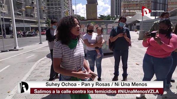 [Video] Pan y Rosas se movilizó contra los femicidios en Venezuela