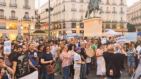Madrid se moviliza por el pueblo mexicano: ¡Oaxaca aguanta, Madrid se levanta!