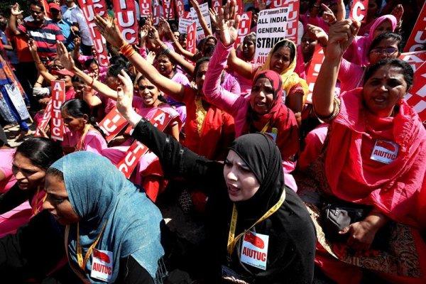 Huelga general en India: 200 millones de trabajadoras y trabajadores contra la ley laboral del Gobierno
