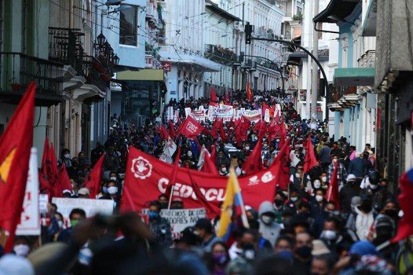 Manifestaciones en Ecuador contra las medidas de ajuste exigidas por el FMI